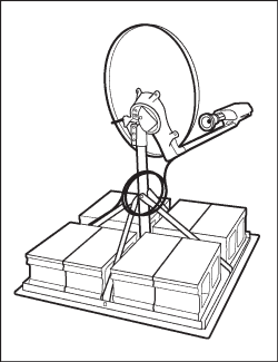 Viasat Satellite Dish Non-Penetrating Roof Mount